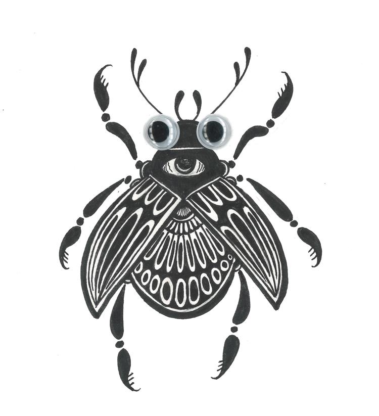 googly eyed beetle. deadlines c - juliawald   ello