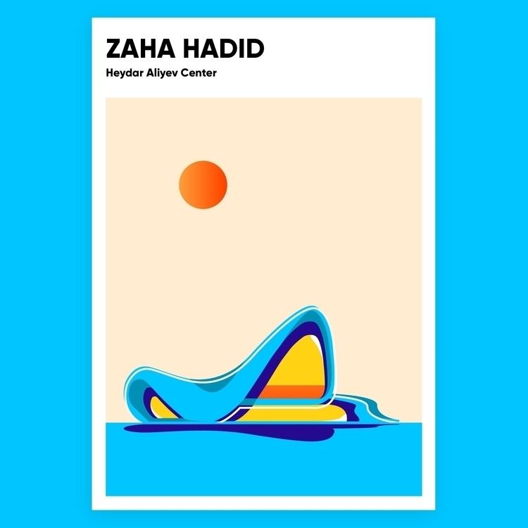 Zaha Hadid Posters (1950-2016)  - stewluv | ello