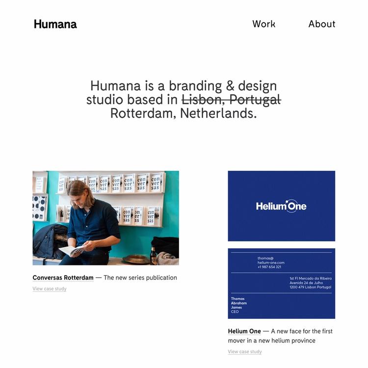week finally launched brand web - humanastudio | ello