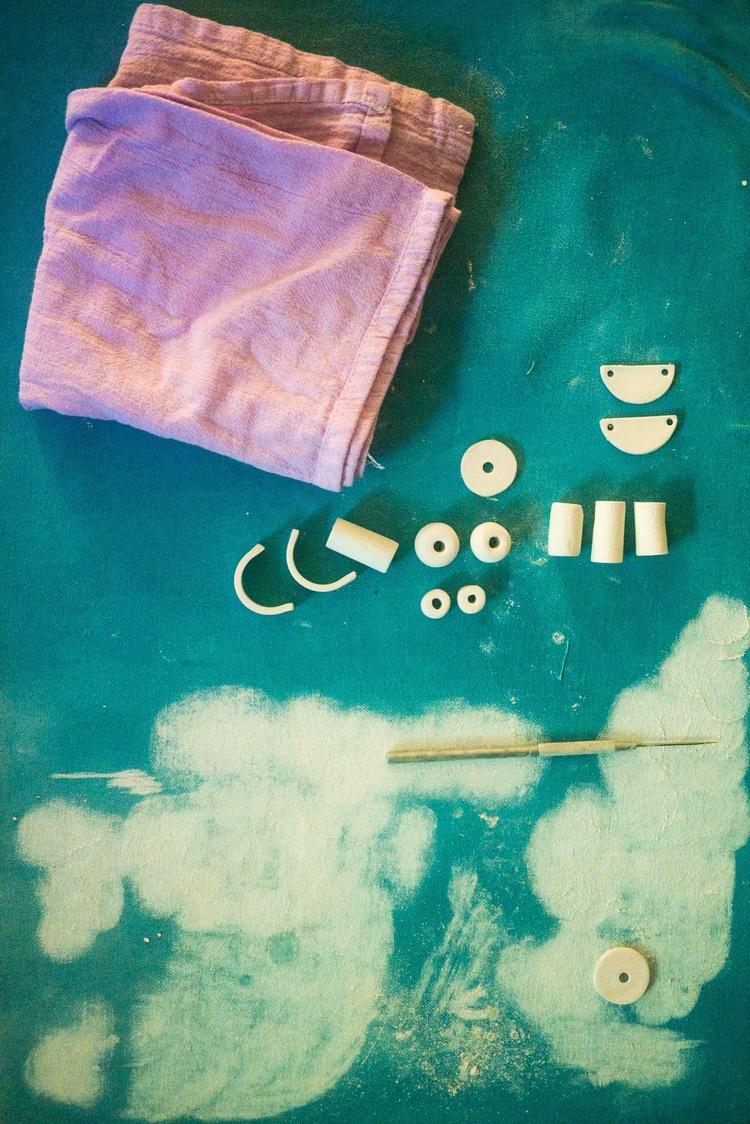Bone dry tinted porcelain beads - littleclaystudio | ello