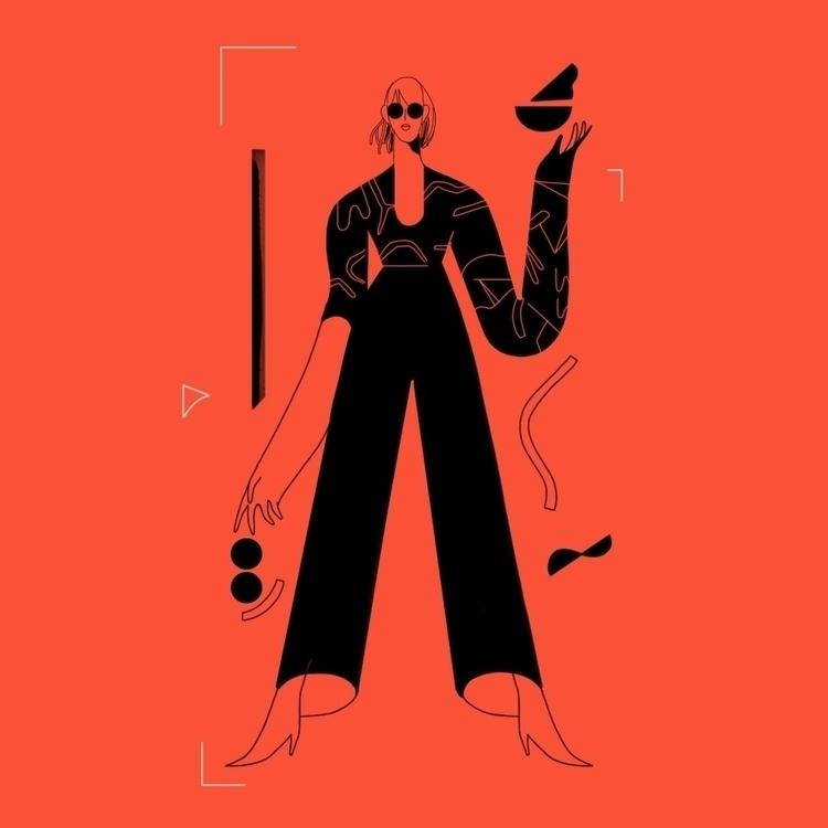 illustration, elloillustration#characterdesign - xoanah   ello