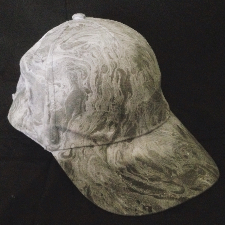 Black white marbled hat. $10 $7 - thathatstudio | ello