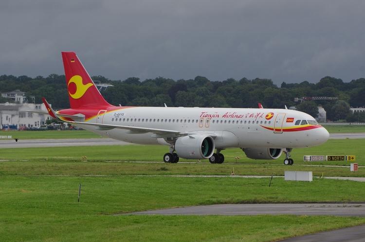 Tianjin Airlines A320neo, Hambu - brummi | ello