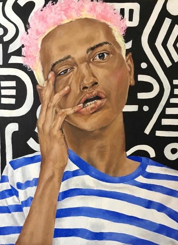 Duality (acrylic wood canvas - portrait - aoifedillon | ello
