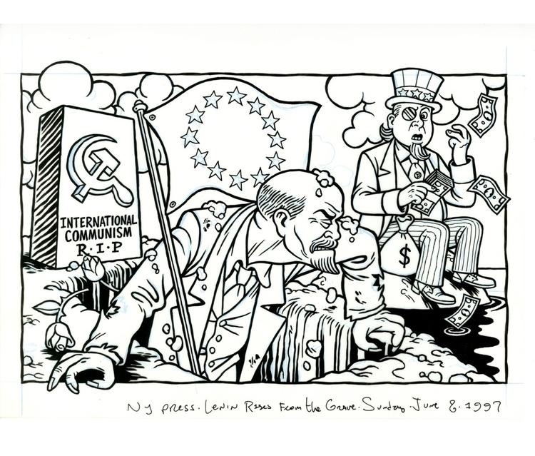 Lenin Risen Grave, illo NYPress - dannyhellman | ello
