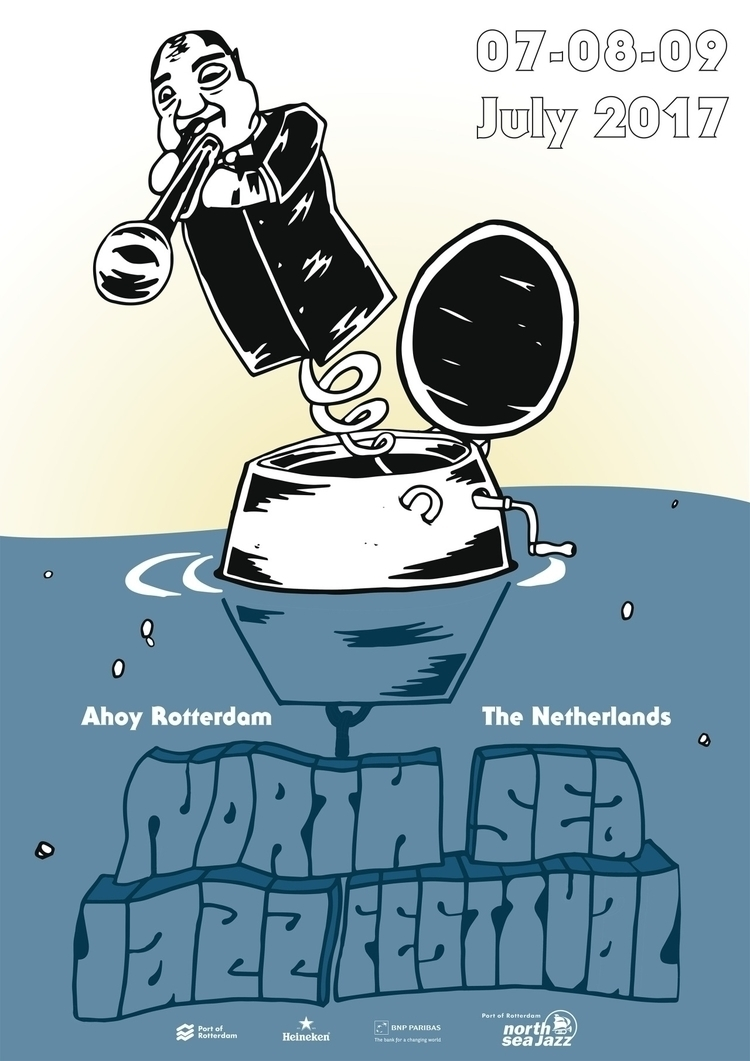 poster North Sea Jazz contest - illustration - barrytimmer | ello