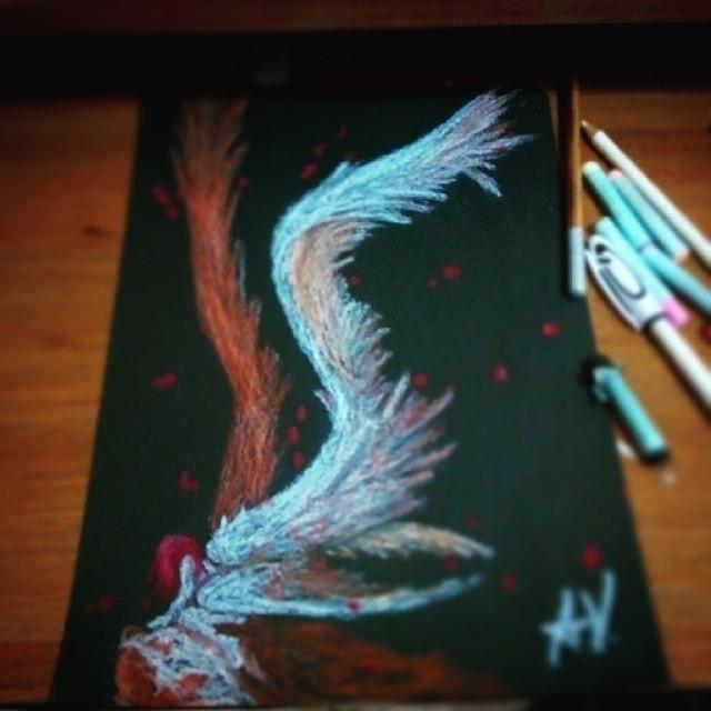 draw pastel - angel, death, demon - alakeys   ello