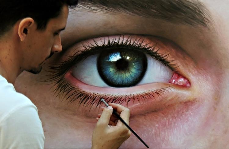 Olho - pintura óleo sobre tela  - fabianomillani   ello