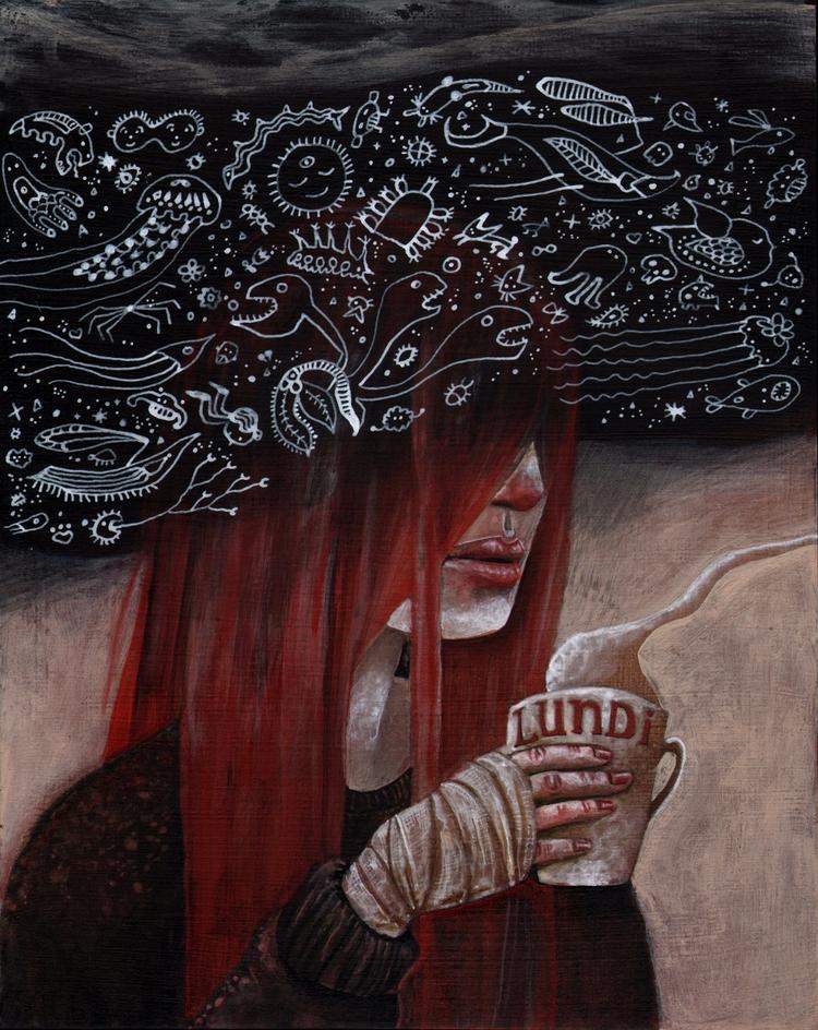 Lundi 8x10 - acrylicpainting, painting - adeline_lamarre | ello