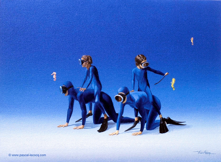CASAQUES BLEUES - Blue jerseys  - bluepainter | ello