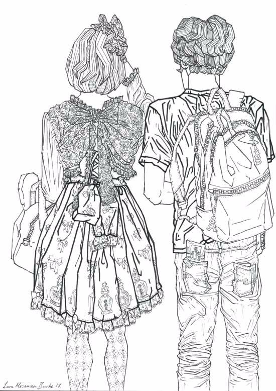 Drawing lovely couple Tokyo, Ja - laramesanzaburke | ello