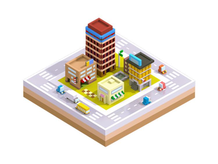 iso, city, 3d, illustration - ngaiyt | ello