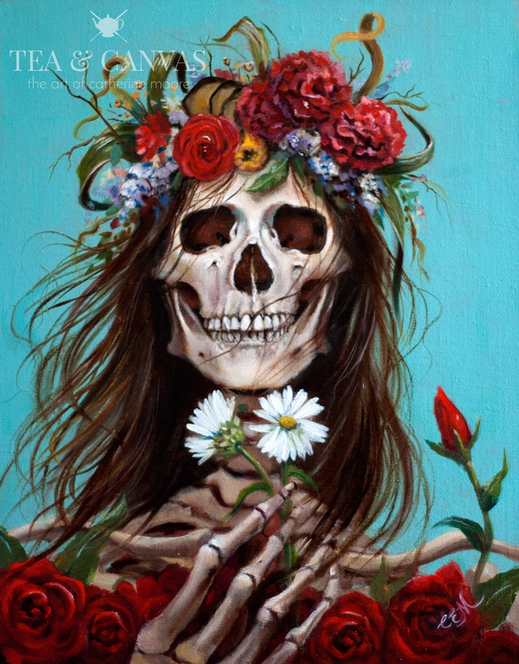 Death Hippie Oil linen panel 11 - teaandcanvas | ello