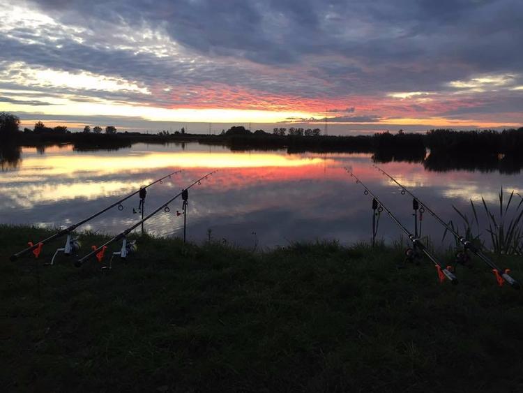 sunset, reflection, angler, anglers - bovehorgaszto | ello