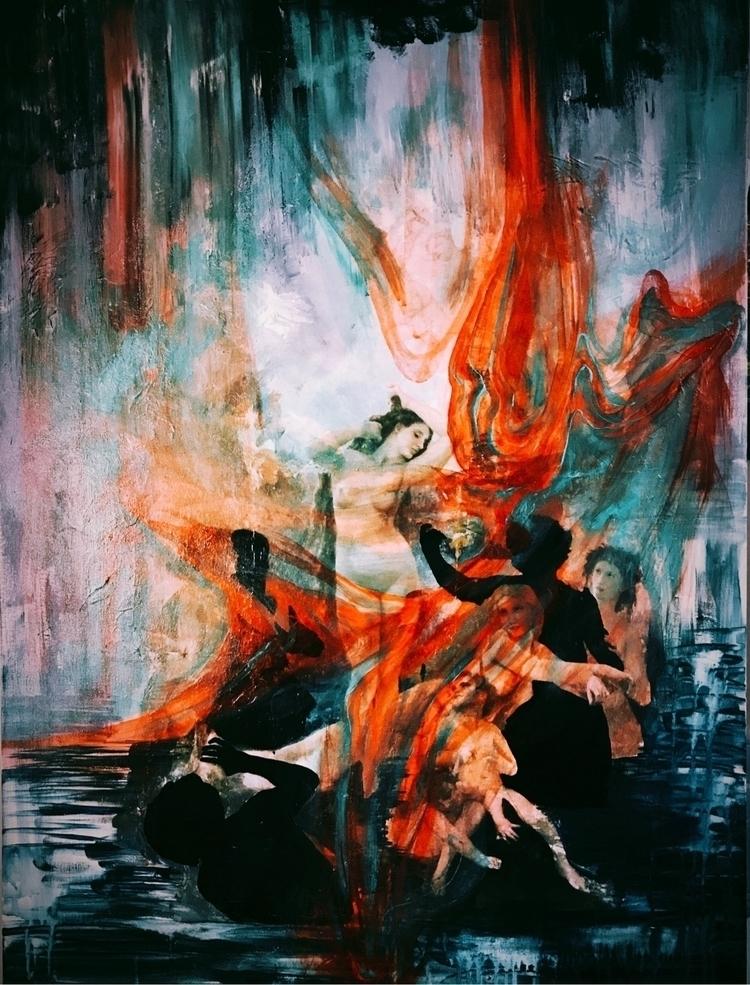 Acrylics canvas. Briana Wills  - brianamwills | ello