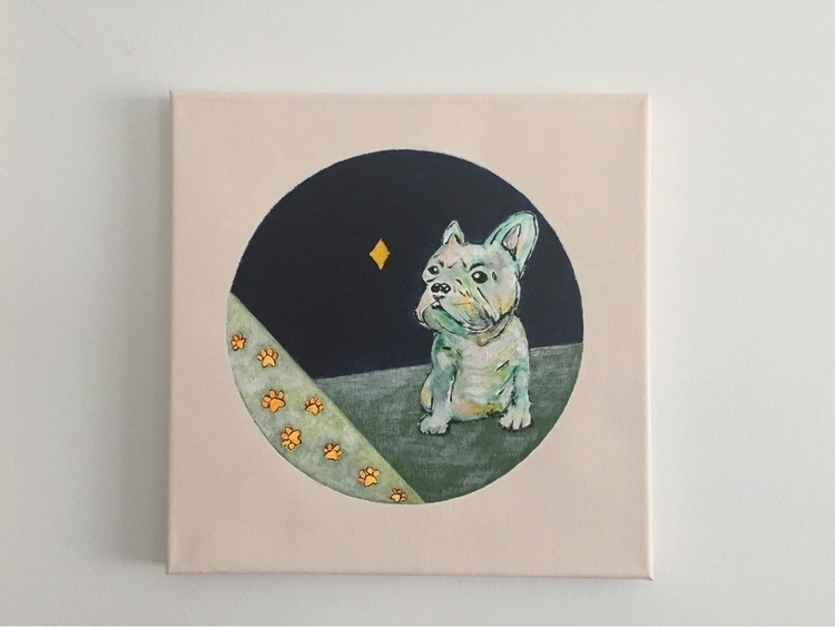 painting, elloart, art, frenchbulldog - melodylamoureuxart | ello