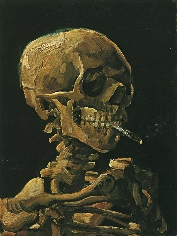 Skull Skeleton Burning Cigarett - peligropictures | ello