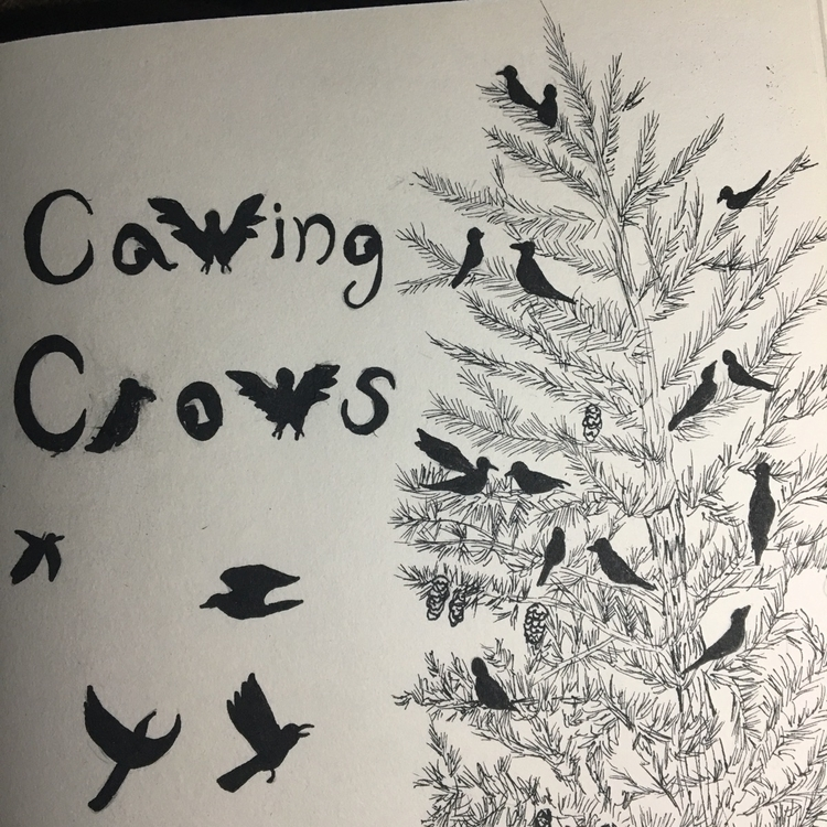 "comic called ""Cawing Crows"" ink - sarahmariefairy 