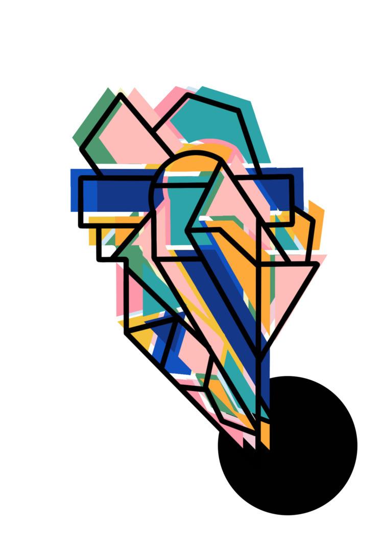 Big Dipper - geometric colorful - lustinspace | ello