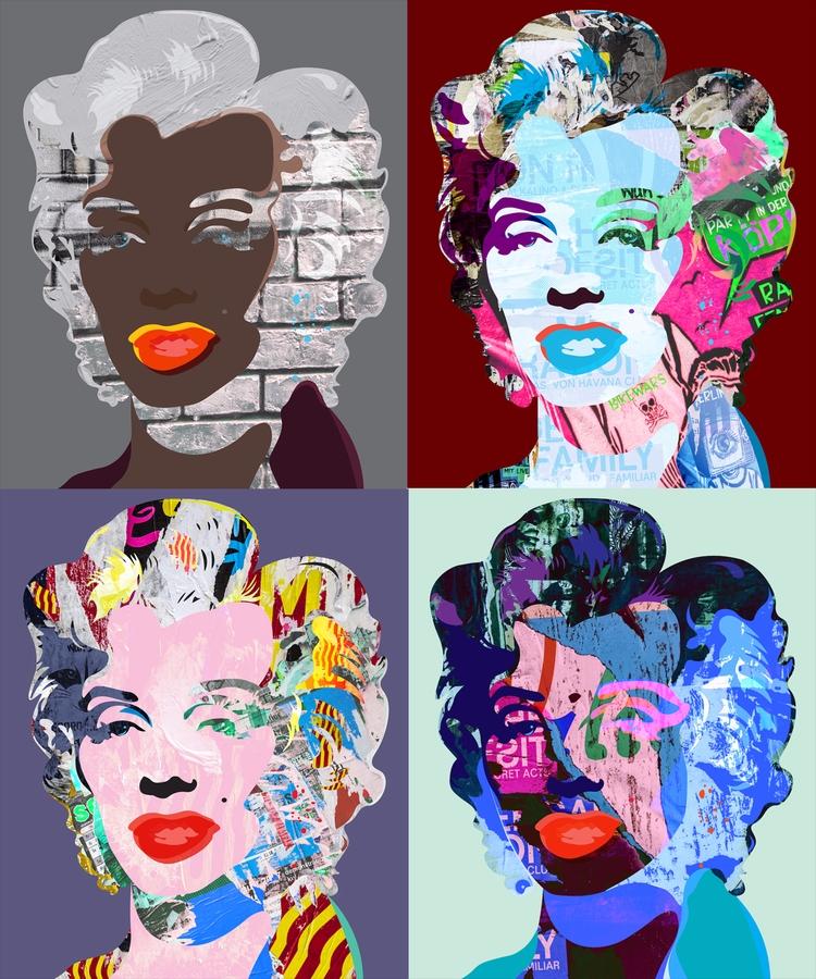 Marilyn Wall Collection N11-12 - sandromartini | ello