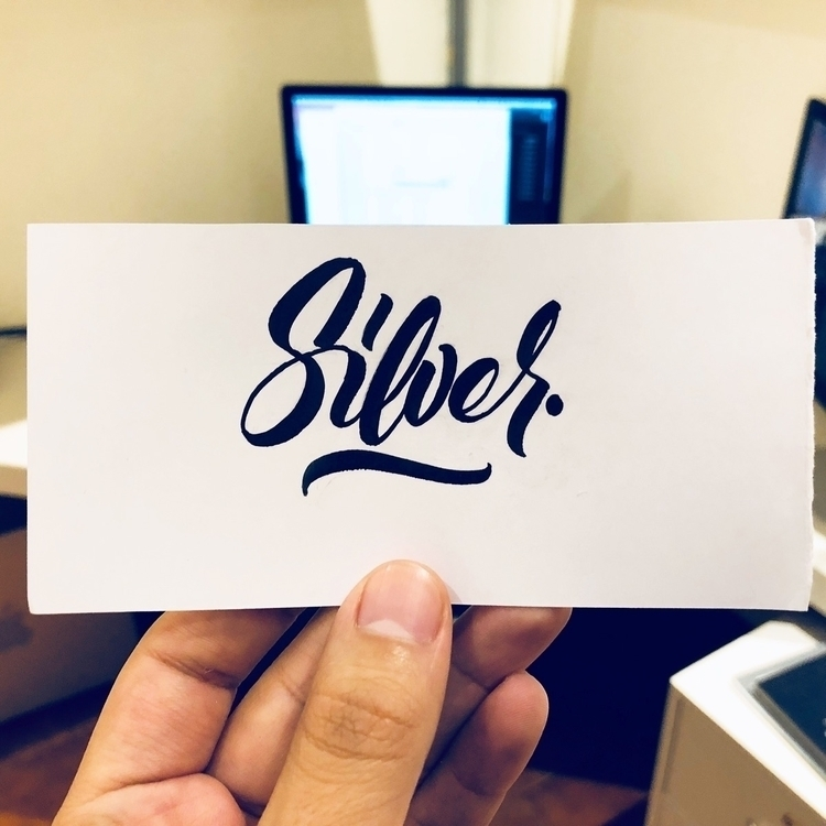 silver, lettering, fabercastell - krustofsky | ello