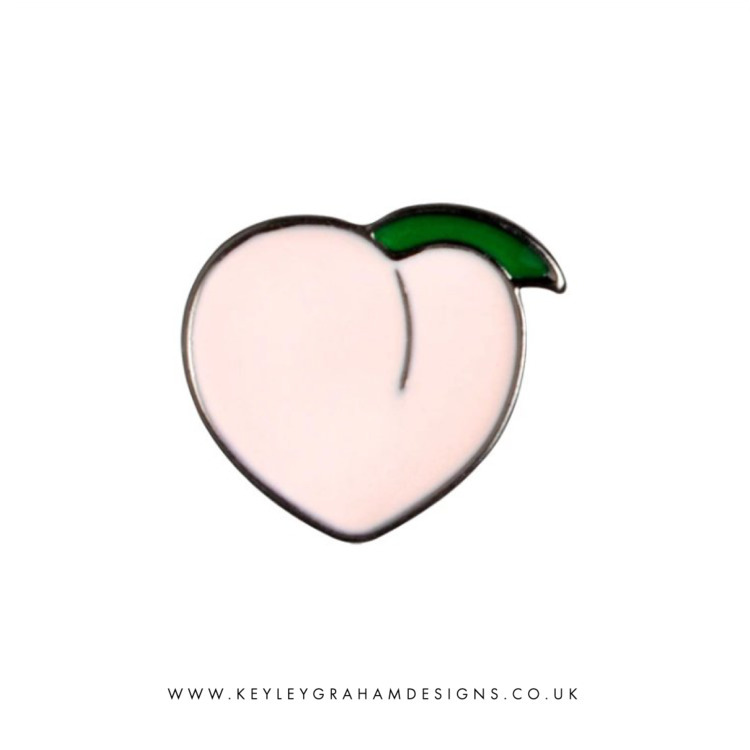 Peachy Bum Enamel Pin Keyley Gr - keyleygrahamdesigns | ello