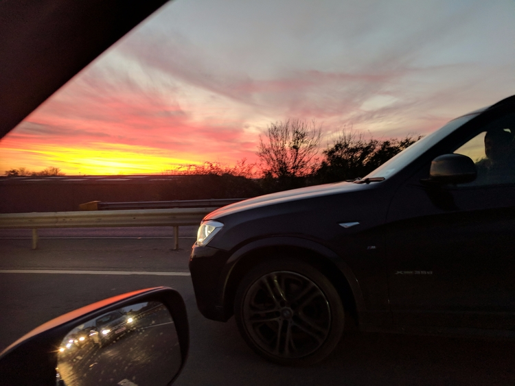 traffic jam winter sunset - alexishughes | ello