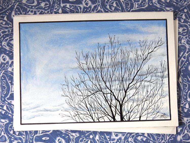 tree - Tree, Acrylic, Sky, Clouds - rakeshmalik91 | ello