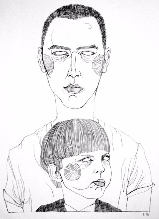 art, illustration, drawing, portrait - linsshit | ello