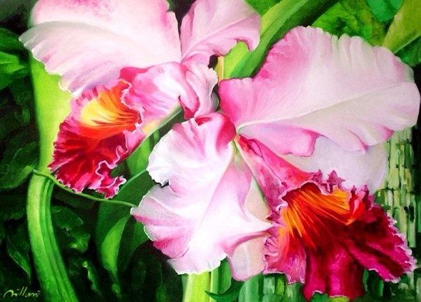 Flor - Pintura à óleo sobre tel - fabianomillani | ello