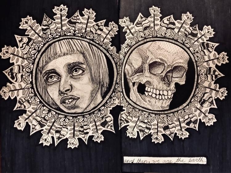 life bodies minds return silent - mori_illustration | ello