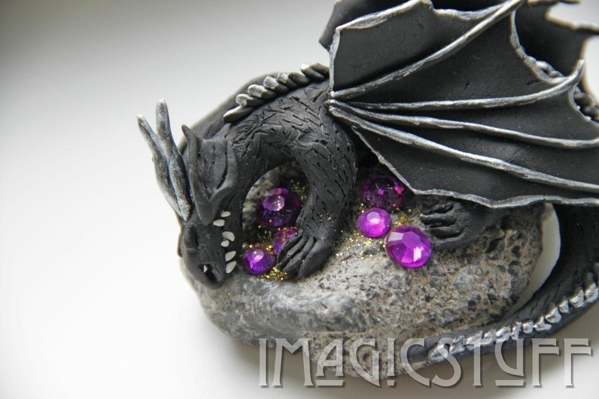 Sleeping Dragon - clay, polymerclay - i_magicstuff | ello