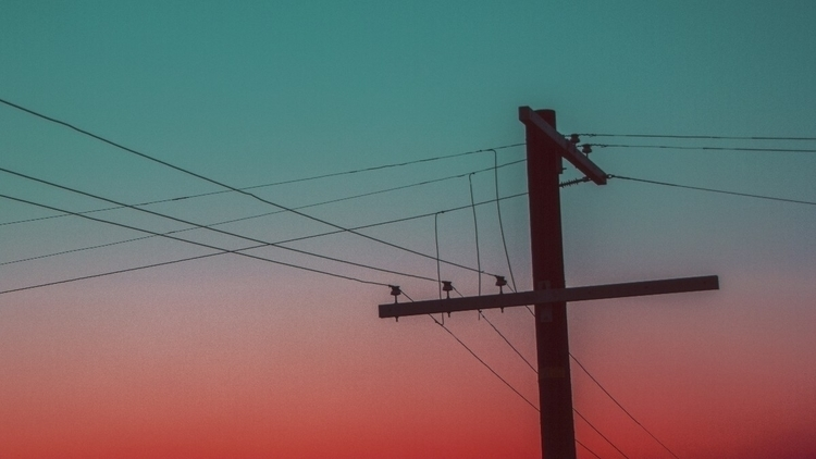lines - sky, sunset, bold, color - kylie_hazzard_visuals | ello