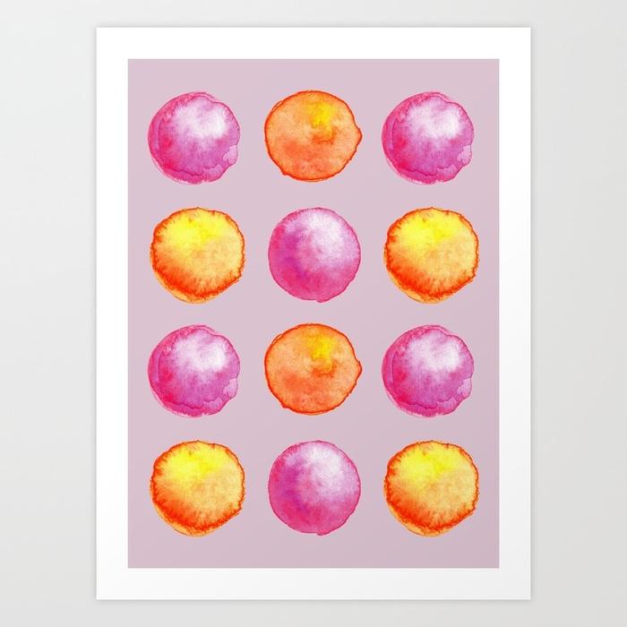 Juicy watercolor pink pearls or - borianag | ello