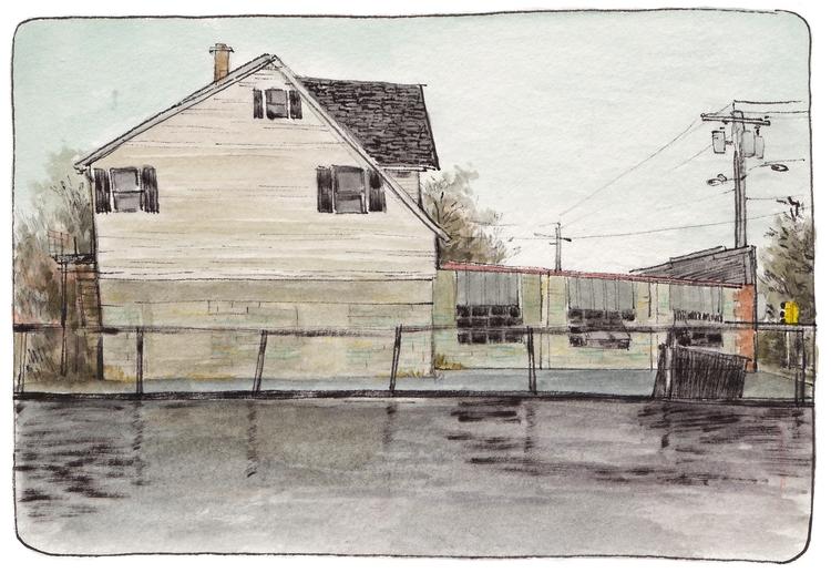 landscape paintings website - watercolor - outerspacecake | ello