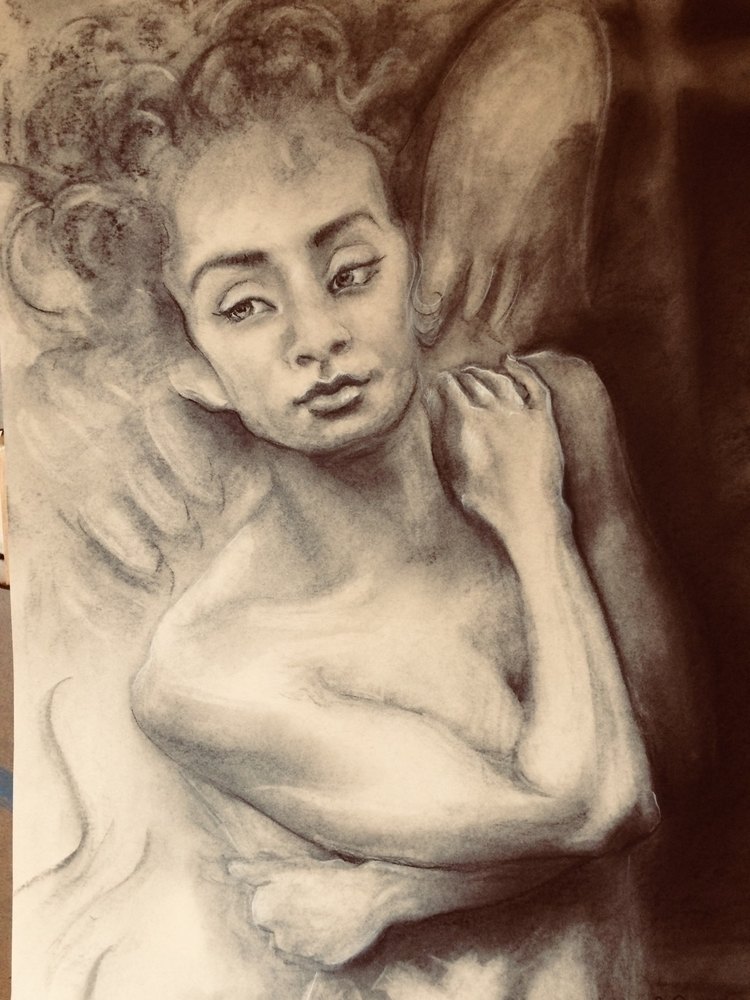 Dreamer 18 24 Charcoal Sketch - bettyjuodis | ello