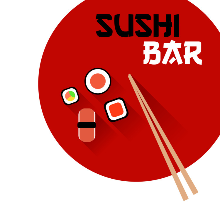 Logo, Sushi Bar - Painting, Art - wvw001 | ello