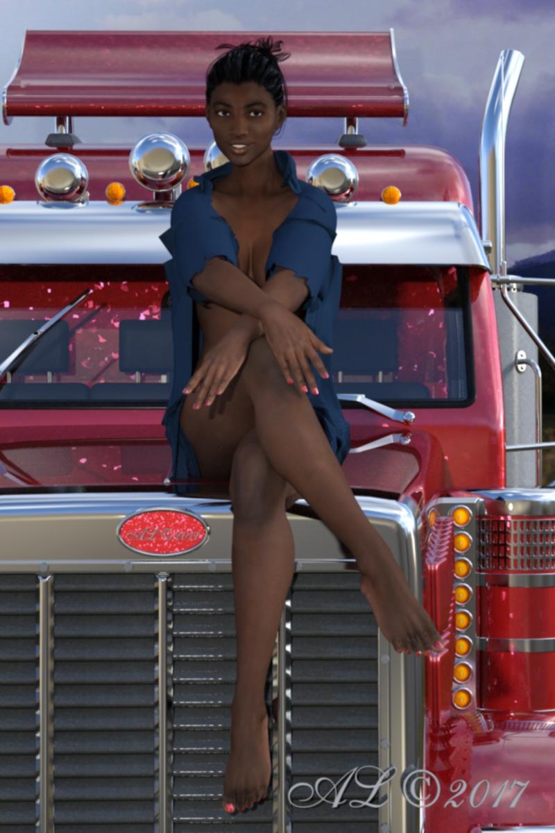 truck, girl, sexy, trucker, dream - franklange   ello