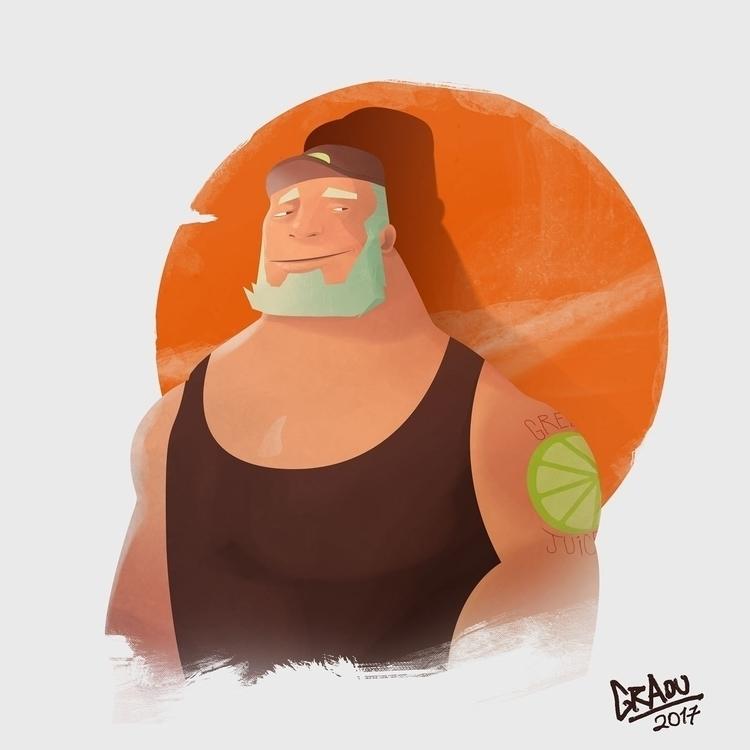 doodle, character, beard, man - graou | ello