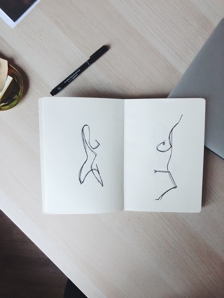 sketches working - ink, minimalism - elinpetronella | ello