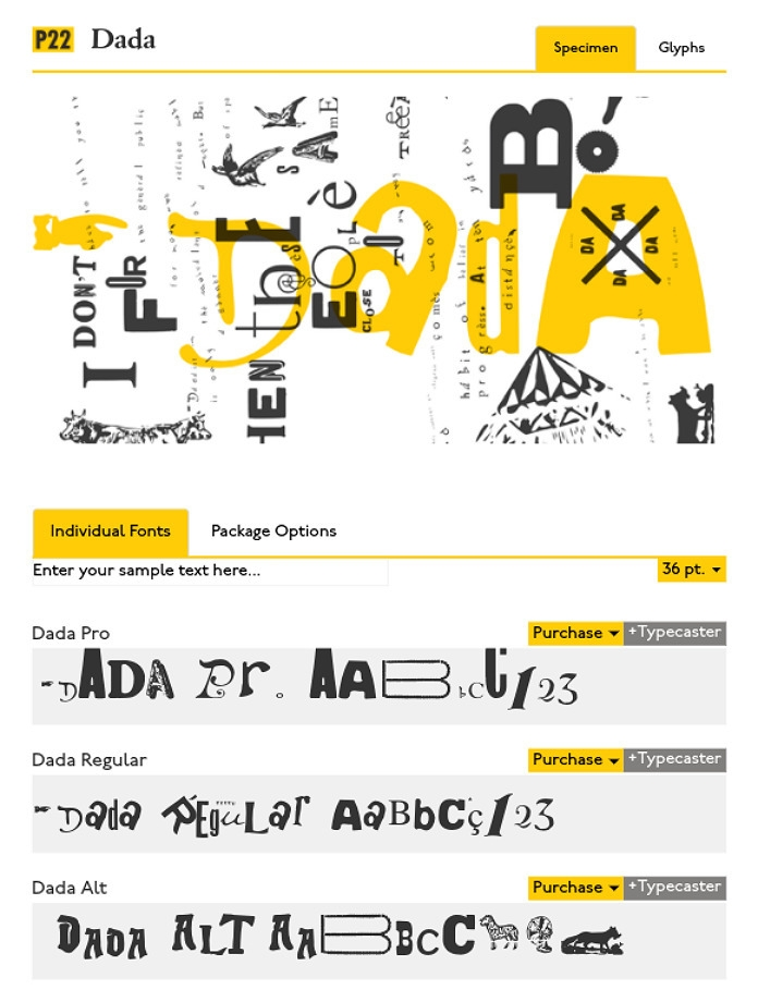 Dada (Font) original idea font  - ellodadaism   ello