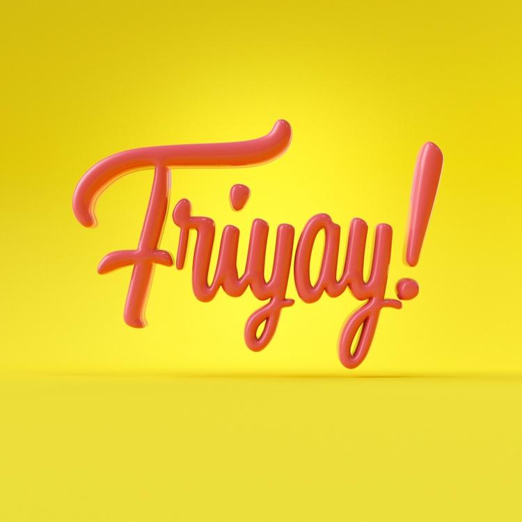 Friyay - 3d, cgi, typography - weareforeal   ello