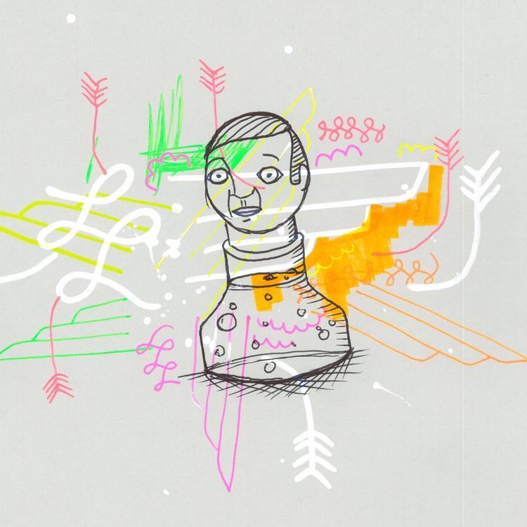 collaboration, sketch, ink - rickmoser | ello