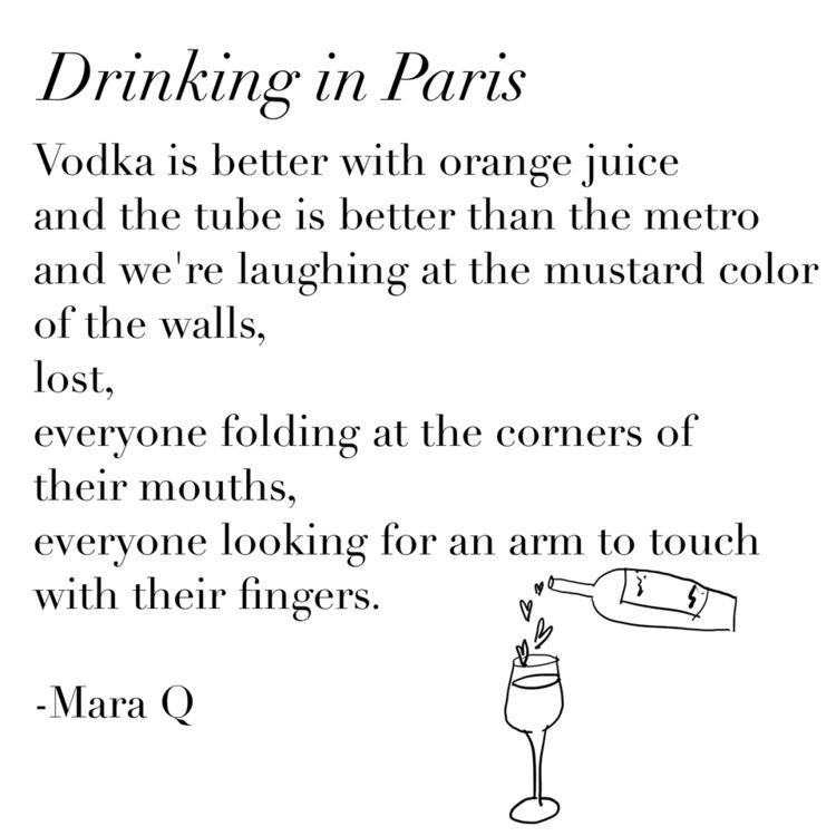 Drinking Paris - poem, poet, poetry - girlfriendpoetry | ello