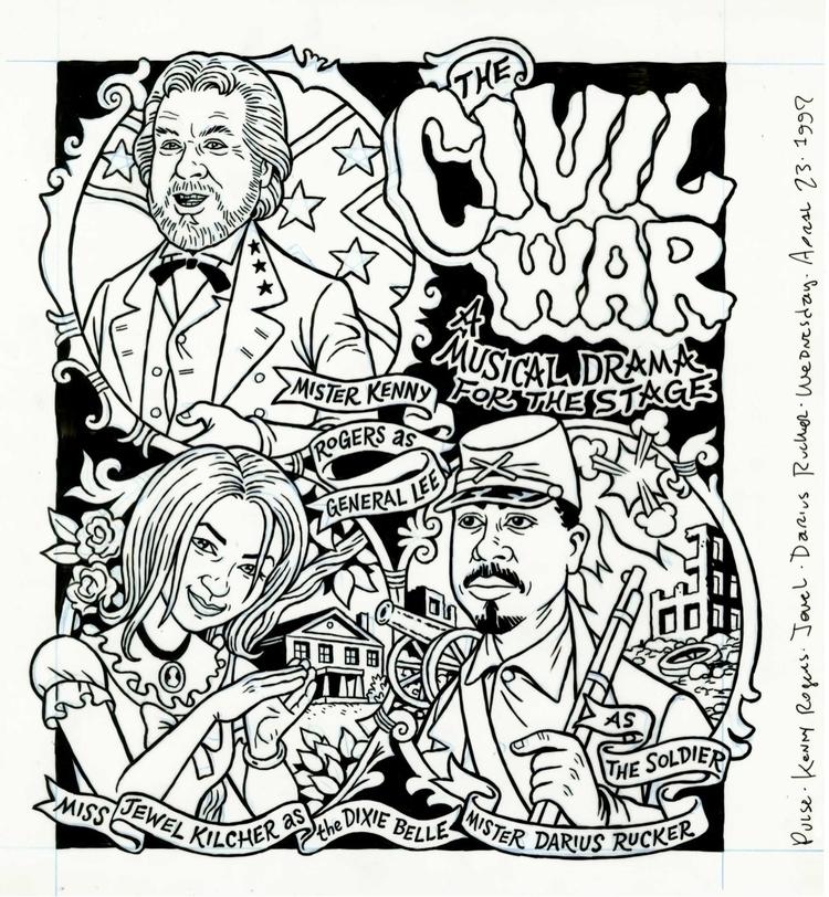 Civil War illo PULSE, 4/23/97,  - dannyhellman | ello