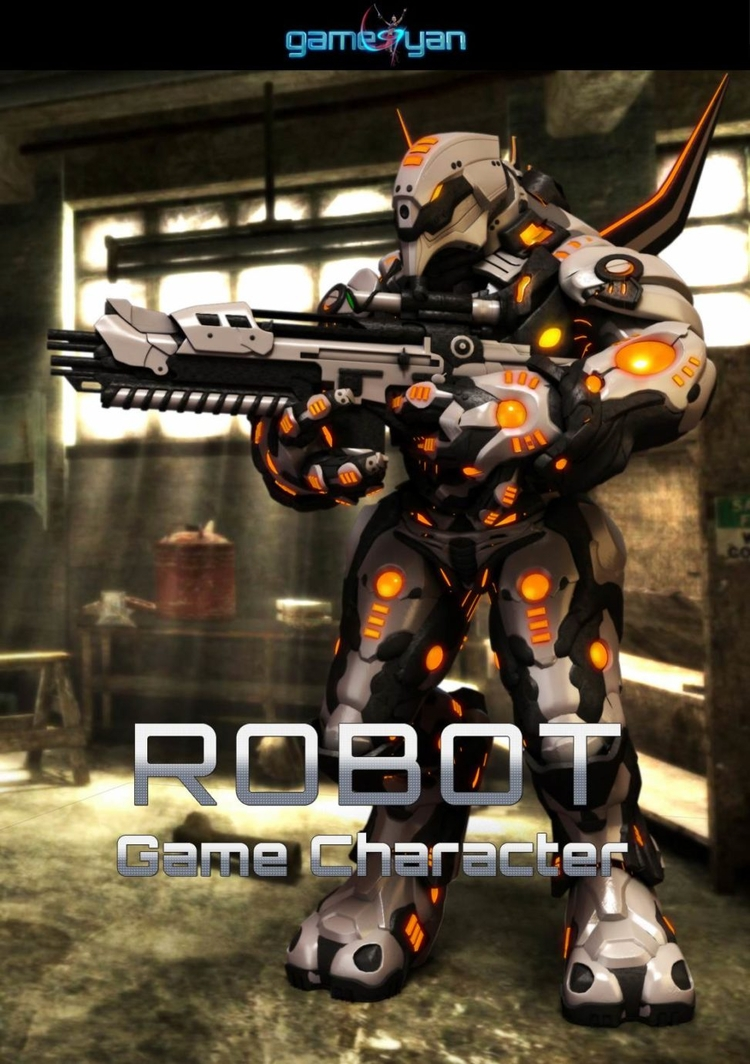 3D High Poly Robot Game Charact - gameyan   ello