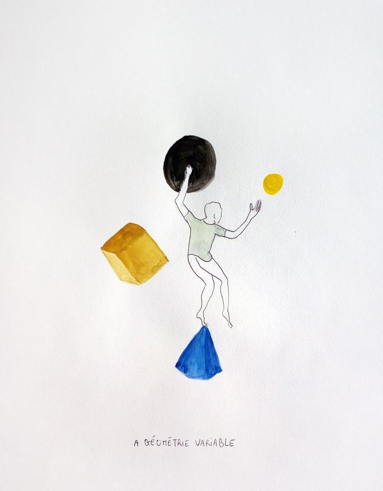 géométrie variable - dessin, illustration - magaliseghetto   ello