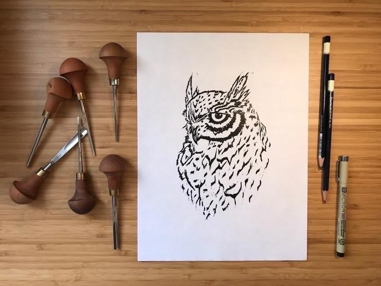 art! 🦉:sparkles - artwork, owl, nature - alderandash | ello