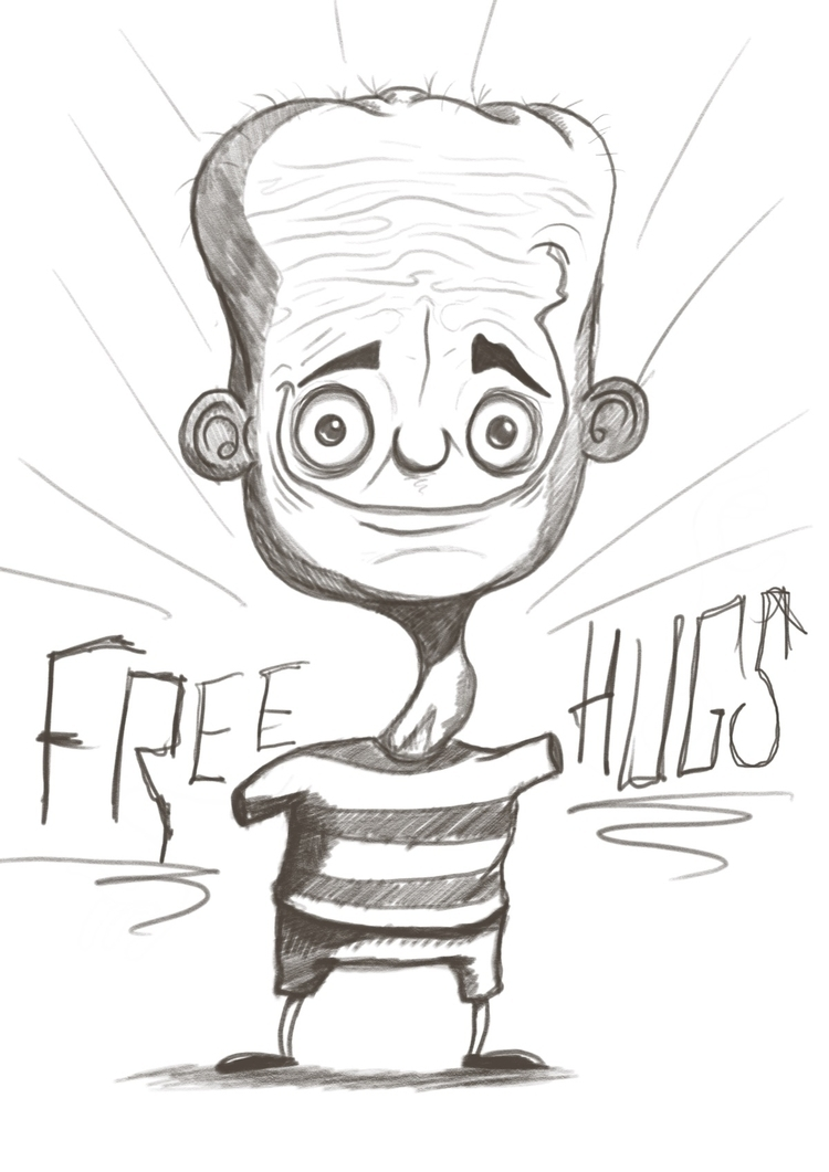 freehug, freehugs, pencils, character - paperyachtclub | ello