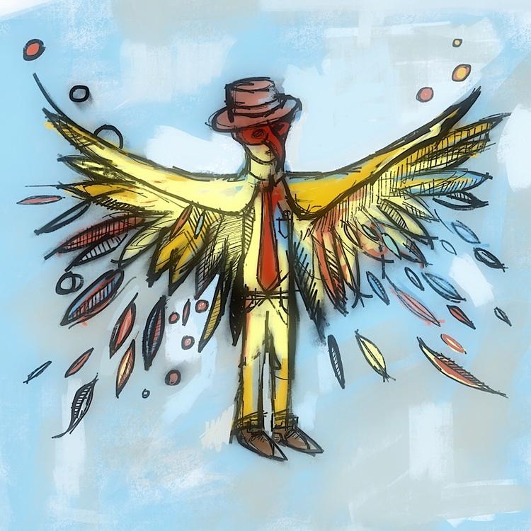 spread - bird, businessman, freak - catswilleatyou | ello